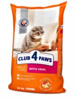 Клуб 4Лапы для кошек ,телятина ,14кг