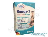 Omega 3 1180mg ulei de peste (500mg acizi grasi) caps.N60 EuRho Vital