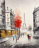 Oil Paintings Autumn Paris (CIT15001003)