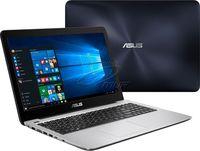 """NB ASUS 15.6"""" X556UQ Blue (Core i7-7500U 8Gb 256Gb) 15.6"""" Full HD (1920x1080) Non-glare, Intel Core i7-7500U (2x Core, 2.7GHz - 3.5GHz, 4Mb), 8Gb (Onboard) PC4-17000, 256Gb SATA, GeForce 940MX 2Gb, HDMI, DVD-RW, Gbit Ethernet, 802.11ac, Bluetooth, 1x USB 3.1 Type C, 1x USB 3.0, 1x USB 2.0, Card Reader, Webcam, DOS, 2-cell 38 WHrs Polymer Battery, 2.3kg, Blue/Silver"""