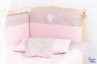 Set lenjerie Confort flori roz 9 piese