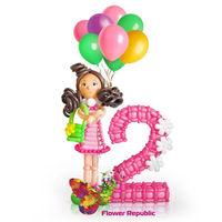 купить Фигура из шаров «Девочка с шариками» в Кишинёве