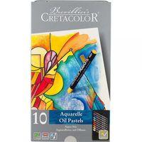 Set de creioane profesionale de ceară Cretacolor 10 cul.