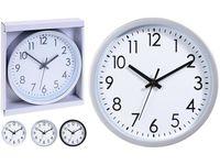 Часы настенные круглые D20сm,H3.8cm, 3 цвета