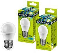 Bec econom Ergolux LED G45 7W E27 4500K
