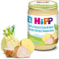 Hipp пюре кролик, фенхель и картофель, 4+мес. 190г