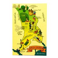 купить Почтовая Открытка – Карта Молдовы в Кишинёве
