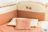 Set lenjerie Confort stele ciocolată 9 piese