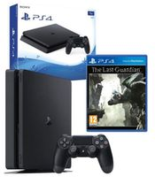 Game Console  Sony PlayStation 4 Slim 1TB Black, 1 x Gamepad (Dualshock 4) + CD The Last Guardian