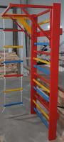 cumpără Spalier gimnastic 245х85 cm, colorat, 15 bare, Multifunctional (3667) în Chișinău