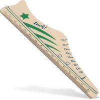 Luromax Линейка LUROMAX Funny, деревянная, 15 см