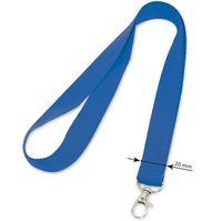 Шнурок для бейджа 20х400мм синий