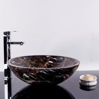 Раковина мраморная ванная комната Порторо Золото, 42 х 14 см