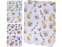 """Пакет подарочный """"Бабочки, цыплята, цветы"""" 16X11X6cm"""
