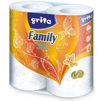 Бумага туалетная GRITE Family 3-сл, 18.75м, 4 рулона