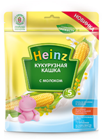 Heinz каша кукурузная молочная, 5+мес. 250г