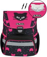 "Ghiozdan pentru școală ""Cats"" Herlitz I roz-negru"
