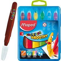 MAPED Карандаши гелевые MAPED Smoothy/6 выкручивающиеся