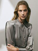 Блуза Massimo Dutti Серебряный 5170/555/830