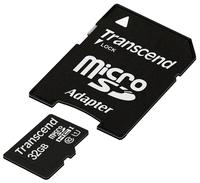 Transcend TS32GUSDU1 32GB MicroSDHC (Class 10) SD adapter