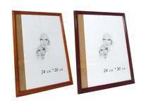 купить Фоторамка деревянная 24X30cm, коричневая бордо в Кишинёве