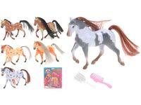 Лошадь 8см с расческой для гривы