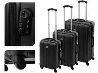 Valiza-troller 61l 60X40X24cm mediu, neagra, plastic