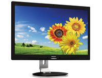 """27.0"""" Philips """"271P4QPJKEB"""", Black (AMVA, 1920x1080, 6ms, 300cd, LED20M:1, DVI,HDMI,DP, WebCAM, HAS) (27.0"""" A-MVA LED, 1920x1080 Full-HD, 0.311mm, 12 ms (SmartResponse: 6ms GTG), 300 cd/m², DCR 20 Mln:1 (5000:1), 16.7M Colors, 178°/178° @C/R>10, 30-83 kHz(H)/56-75 Hz(V), DisplayPort + HDMI + DVI-D + Analog D-Sub, Stereo Audio-In, Headphone-Out, Built-in speakers 2Wx2, Built-in 2.0-Mpix webcamera w/microphone and LED indictor, USB 2.0 x3-Hub, Built-in PSU, HAS 150mm, Tilt: -5°/+20°, Swivel +/-65°, Pivot, VESA Mount 100x100, PowerSensor, Black)"""