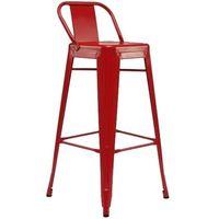 купить Металлический барный стул 490x490x1260 мм, красный в Кишинёве