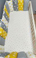 Комплект постельного белья в кроватку Pampy Grey/Yellow stars