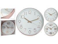 Часы настенные круглые D30.5cm, металл, золотистые