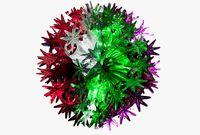 Снежинка-шар разноцветная