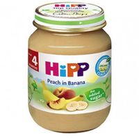 Hipp пюре персик и банан 4+мес. 125г