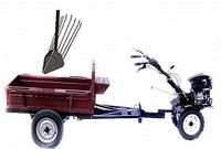Set motocultivator TECHNOWORKER HB 700RS PRO+Remorca RK500 + plug cartofi