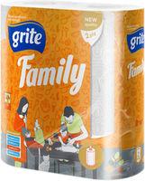 GRITE - Полотенце кухонное Family 2 слоя 2 рулона 14.94м