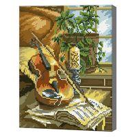 Алмазная мозаика 30x40 см Натюрморт со скрипкой
