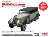 72472 G4 (пр. 1935) с мягкой крышей, Немецкий легковой автомобиль 2 Мировой войны