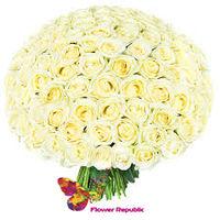 cumpără Buchet de trandafiri albi Ecuador 40CM în Chișinău