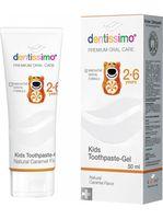 Аксессуар для зубных щеток Dentissimo Kids Caramel aroma, 50ml pasta de dinti
