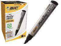 Маркер перманент BIC 2300, плоский конец, черный