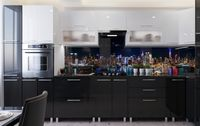 Bucătărie Bafimob Corner (High Gloss) 4.1x0.9m Eco +tandembox White/Black