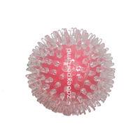Мячик с пупырышками розовый 9 см