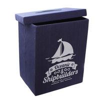 купить Коробка с морской тематикой 360x260x210 мм, синий в Кишинёве