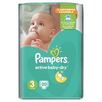 Pampers active-baby dry RC Midi 3, 20шт. 5-9кг