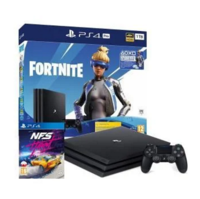 Game Console Sony PlayStation 4 Pro 1TB Black, 1 x Gamepad (Dualshock 4) + Fortnite + Need For Speed Heat