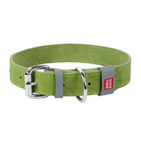 Waudog Ошейник кожа ,металл (35мм*46-60см) Green