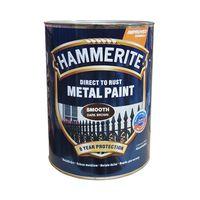 Hammerite Краска для металла Темно-коричневая гладкая 0.75л