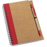 Тетрадь с ручкой ASIMOV ECO B6, 120 л., пруж., красная