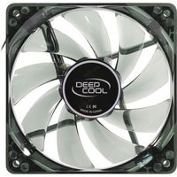 "120mm Case Fan - DEEPCOOL ""WIND BLADE 120"" Fan with 4 blue LED, 120x120x25mm, 1300rpm, <26dBa, 65.16CFM, Hydro Bearing, Black"