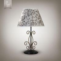 купить N&B Light Настольная лампа Грация new 10300-1 черный/золотой лак в Кишинёве